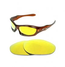 NEW POLARIZED CUSTOM 24k GOLD LENS FOR OAKLEY MONSTER DOG SUNGLASSES